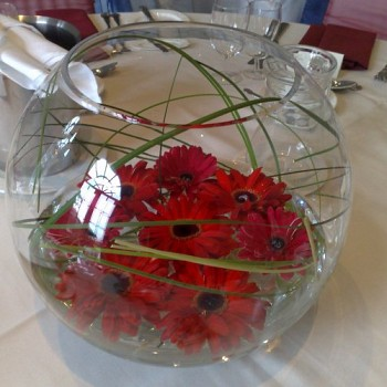 Large Gold Fish Bowl Earth Seed To Bloom Chichester Florist