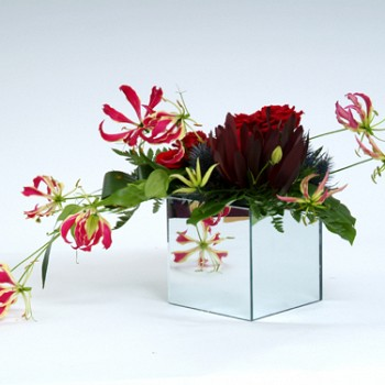 Mirrored Cube Vases Earth Seed To Bloom Chichester Florist