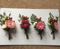 Mixed Flower Buttonholes