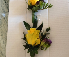 Yellow Rose & Freesia