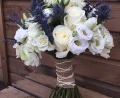 White & Blue Handtied