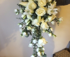 White Shower bouquet