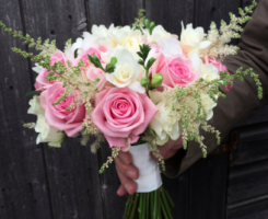 pink-hand-tied-bouquet
