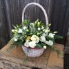 White Christmas Basket -
