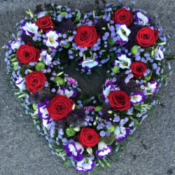 Purple and Red Heart