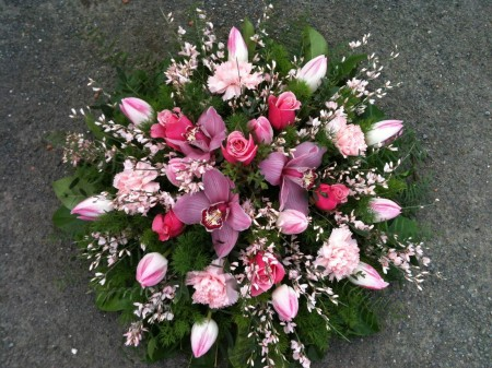 Pink Orchid Posy -