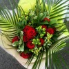 12 Grand Prix Rose Handtied Bouquet - Red Rose Hand Tied