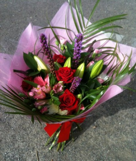 Hand tied bouquet with Roses -