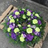Wreath Ring with Green Carnations