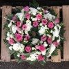 Wreath Ring with Pink Roses -