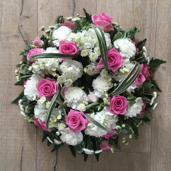 Wreath Ring with Pink Roses