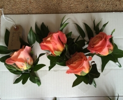 Peach Rose Buttonhole