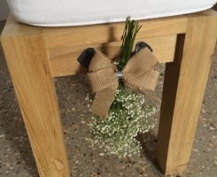 Pew End Hessian Ribbon