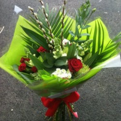 Hand-tied Bouquet with Pussy Willow