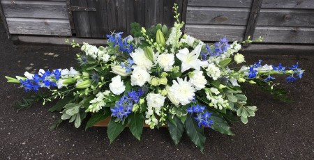 Coffin Spray in Blues and Purples -