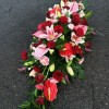 Pink Rose and Lily Coffin Spray