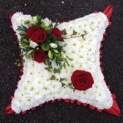 Cushion with Red Roses