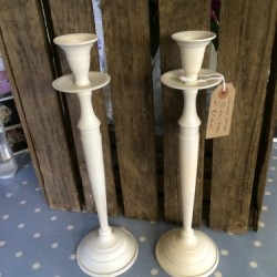 Cream Candle Sticks