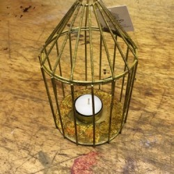 Tea Light Bird Cages
