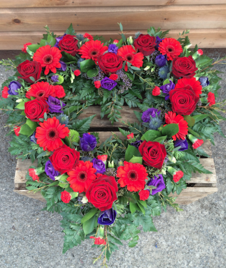 Open Heart Wreath -