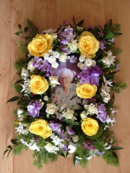 Flower Photo Frame -