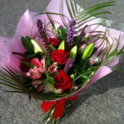 Hand tied bouquet with Roses